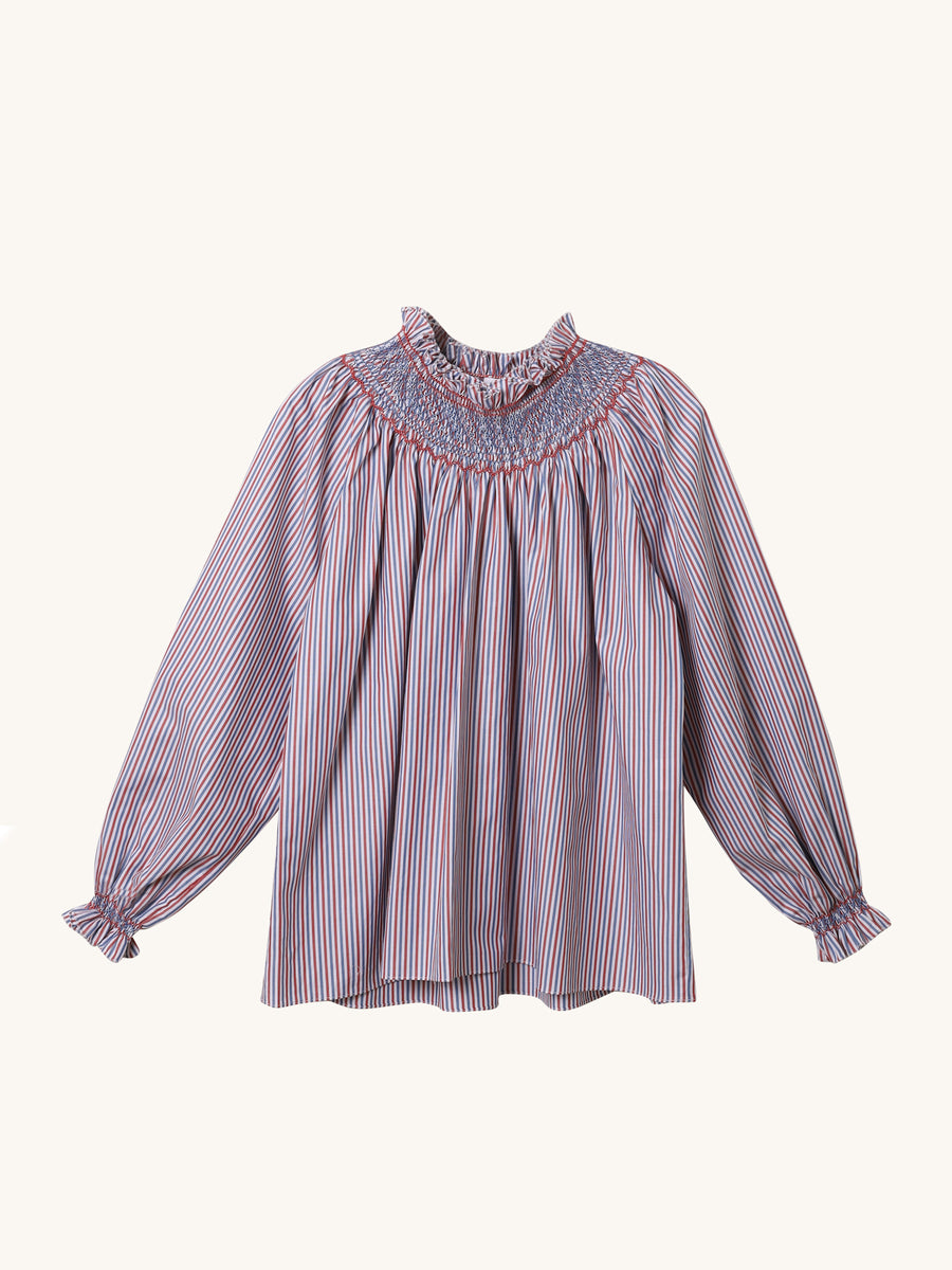 Maria Blouse in Loretta Stripe