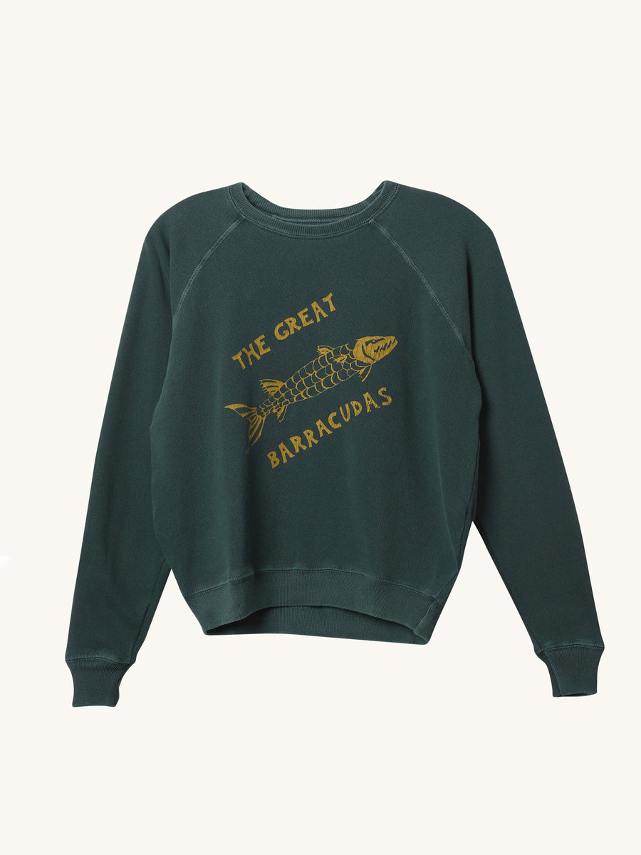 Barracuda Shrunken Sweatshirt in Palm