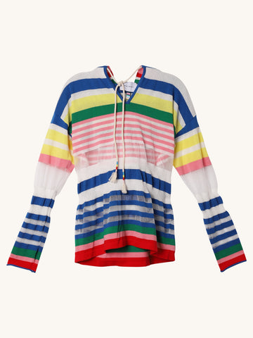 Stripey Hoodie in Multi Stripe