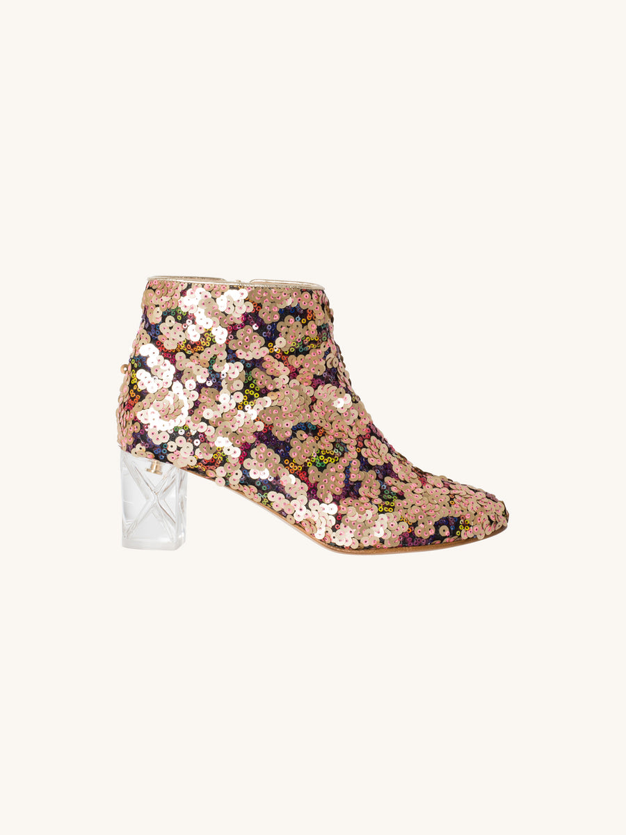 Sequin Bootie in Stardust