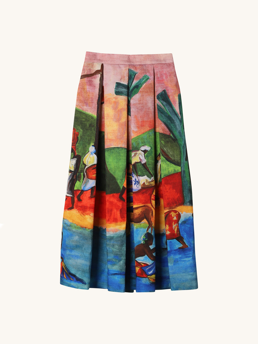 Midi Skirt in Gauguin