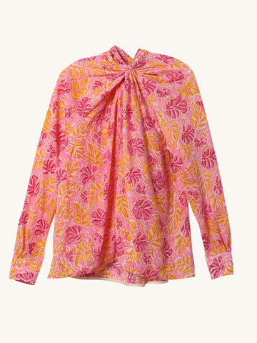 Suzy Top in Pink & Yellow Floral