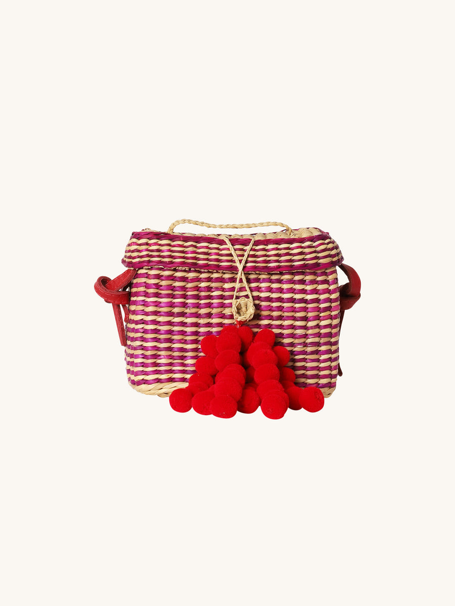 Small Roge Stripe Bag in Pink