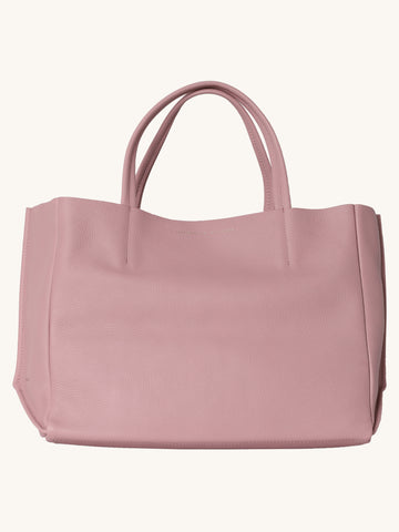 Sideways Tote in Cameo Pink