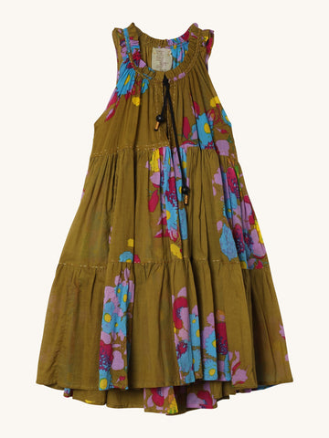 Mini Hippydress in Olive Floral