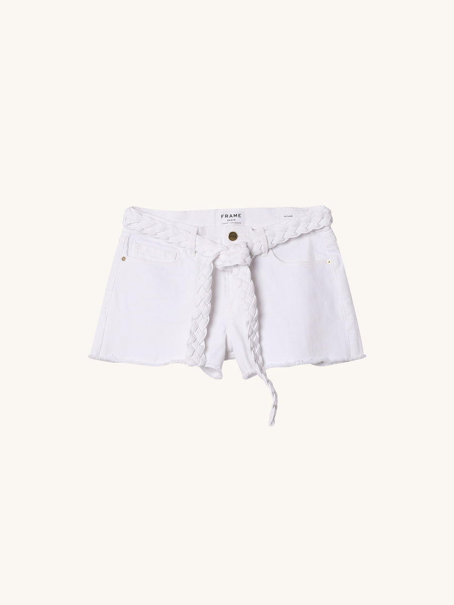 Cut Off Shorts with Braided Belt