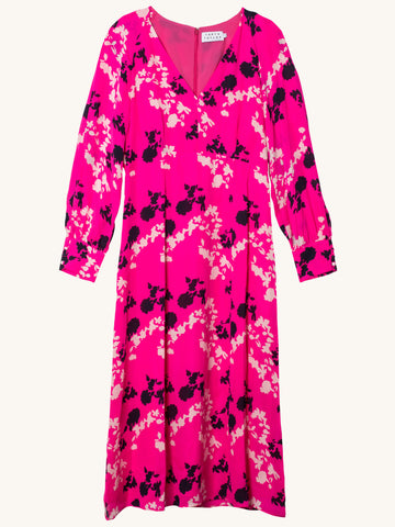 Camo Alannah Dress in Hot Pink
