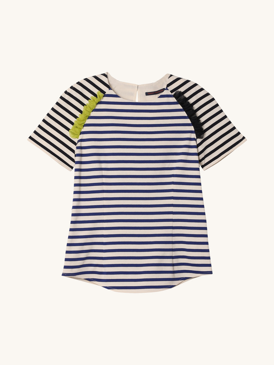 Raglan Top in Royal Stripe