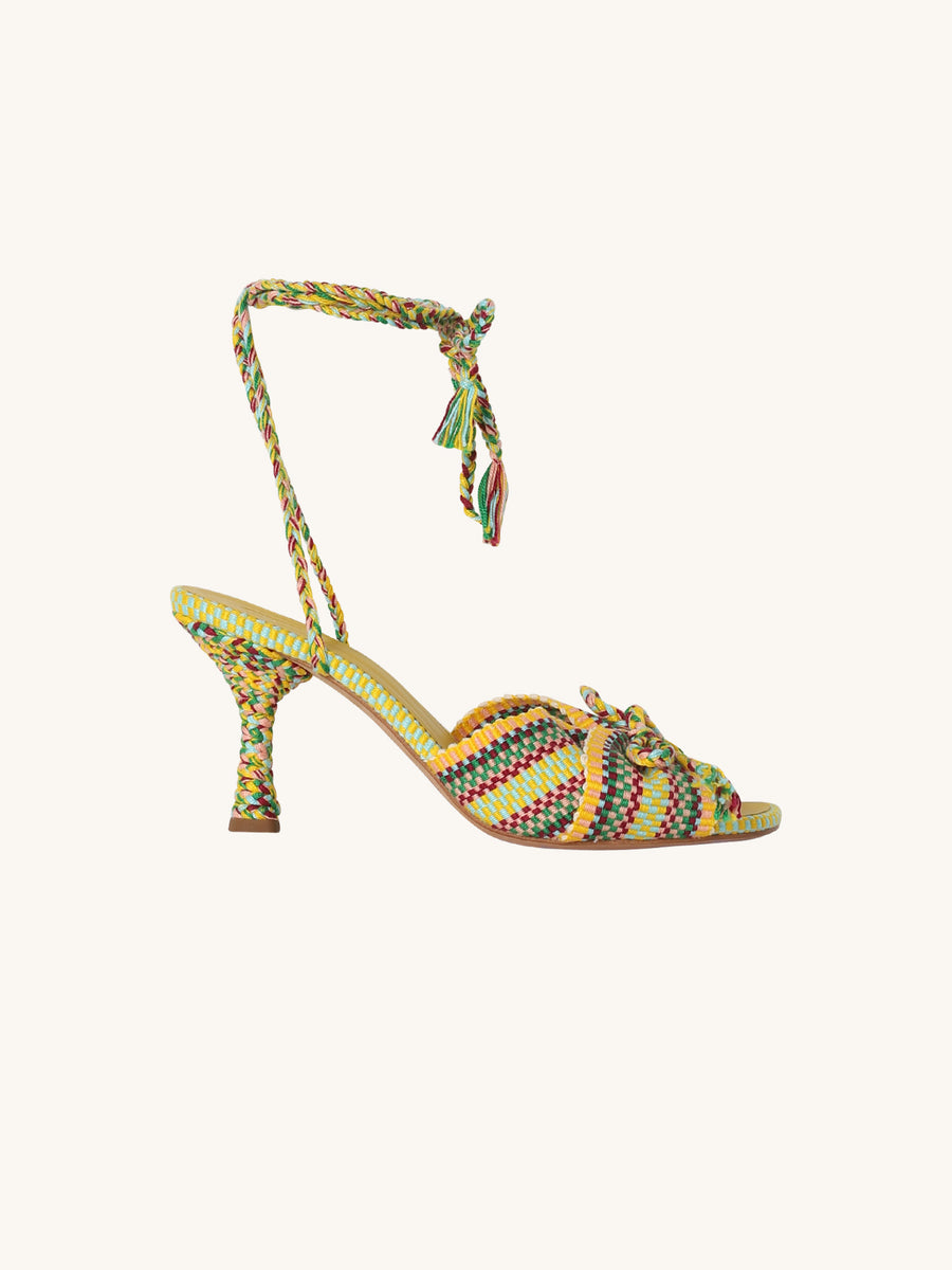 Braided Wrap Farah Caribe Heel
