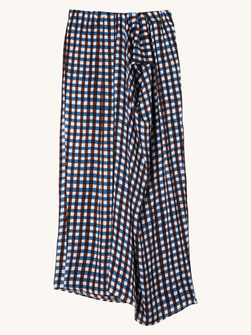 Soko Skirt in Blue Check