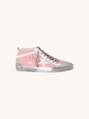 Mid Star Sneaker in Pink & White