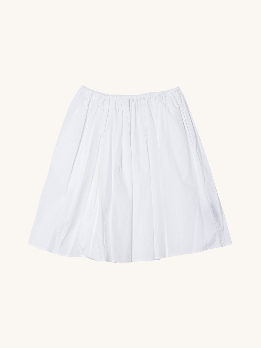 Simple Full Skirt in White