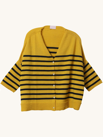 Wool Cardi in Yellow
