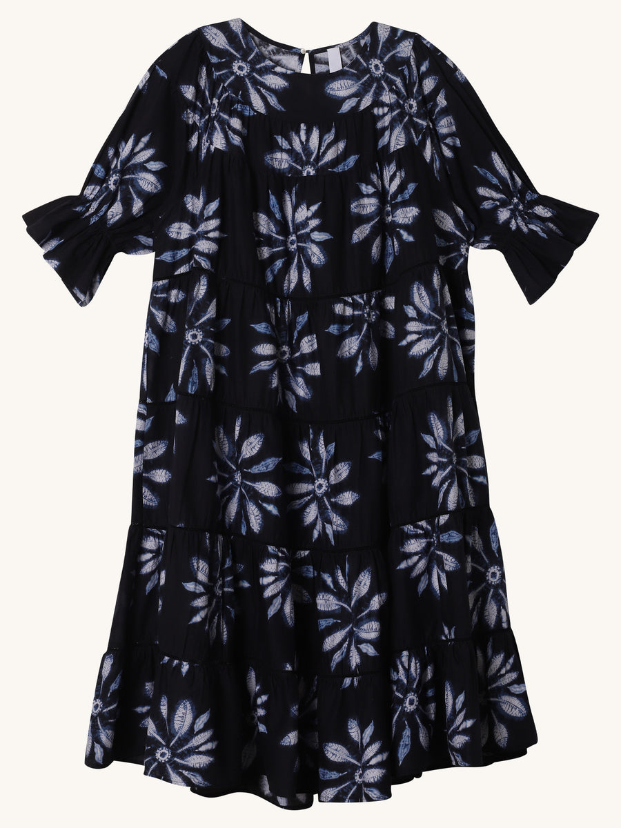 Paradis Navy Shibori Dress