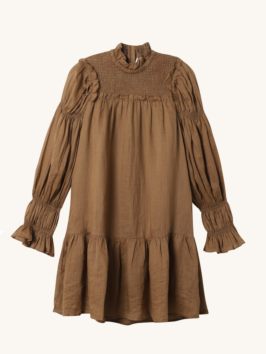 Hattie Ramie Puff Sleeve Tunic