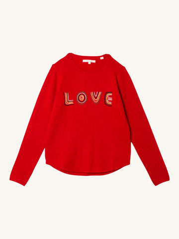 Embroidered Love Sweater