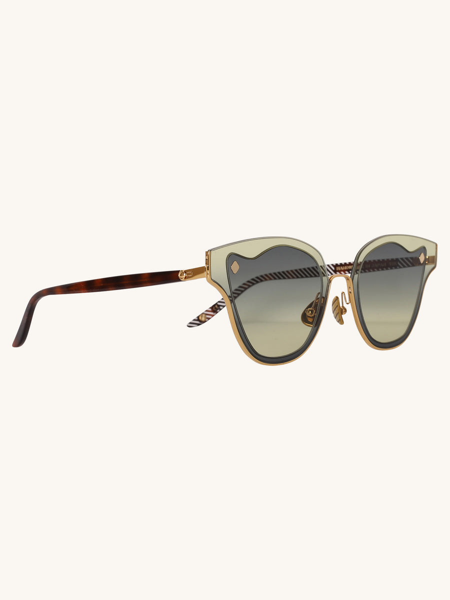 Medea Sunglasses in Sea Green