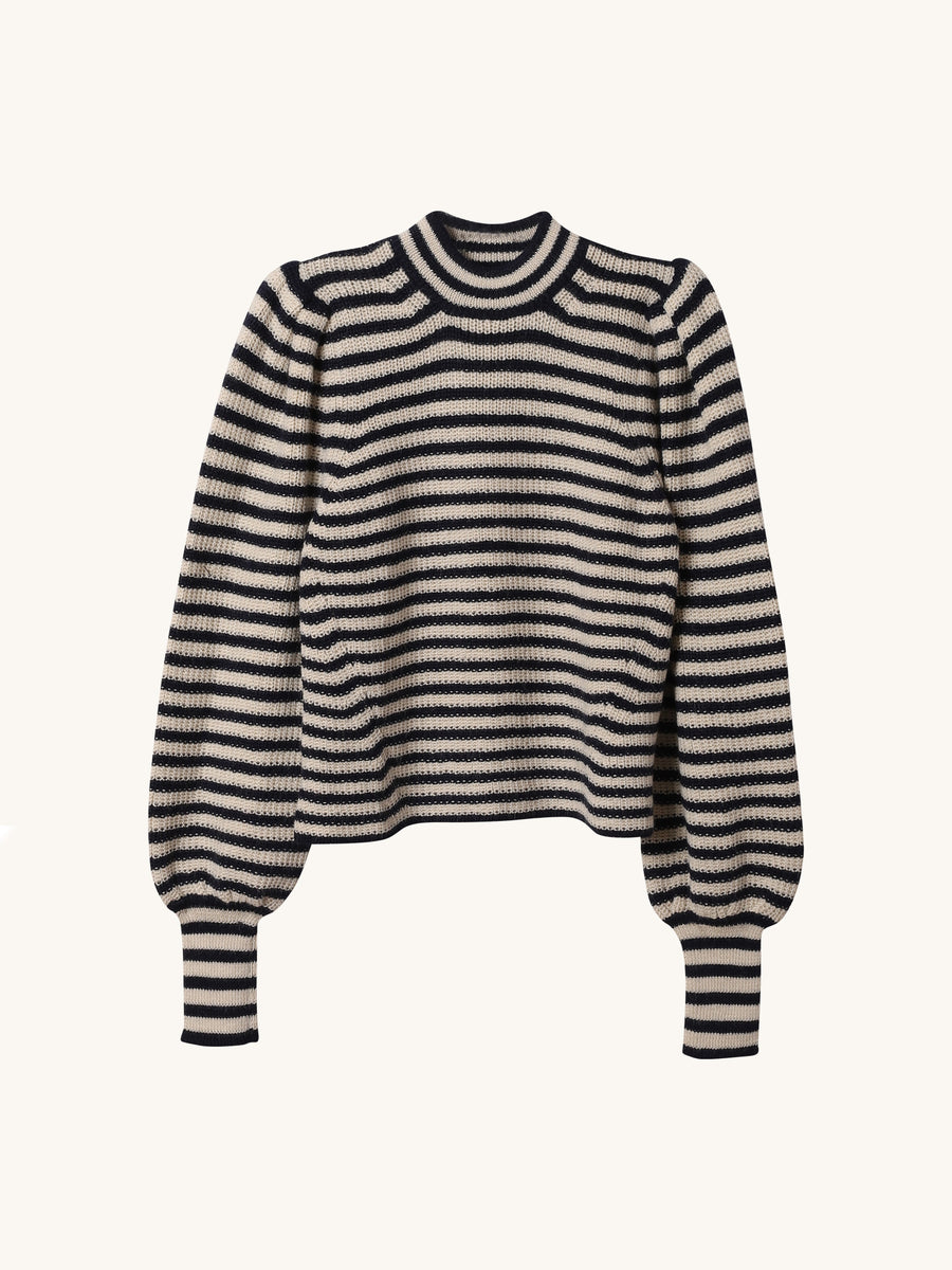 Stripe Mia Sweater in Navy