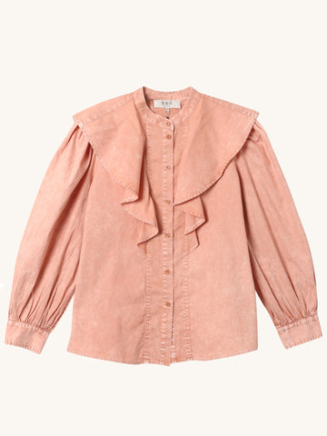 Hildur Long Sleeve Blouse in Rose