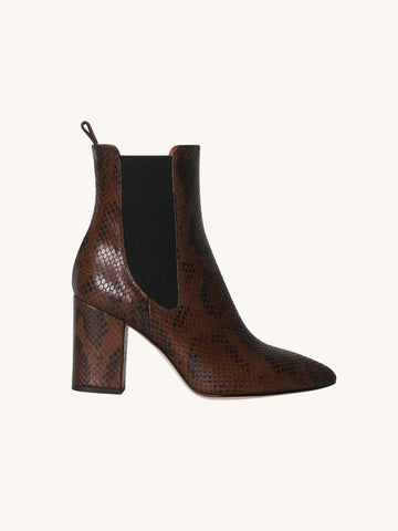 Brown Python Ankle Boot