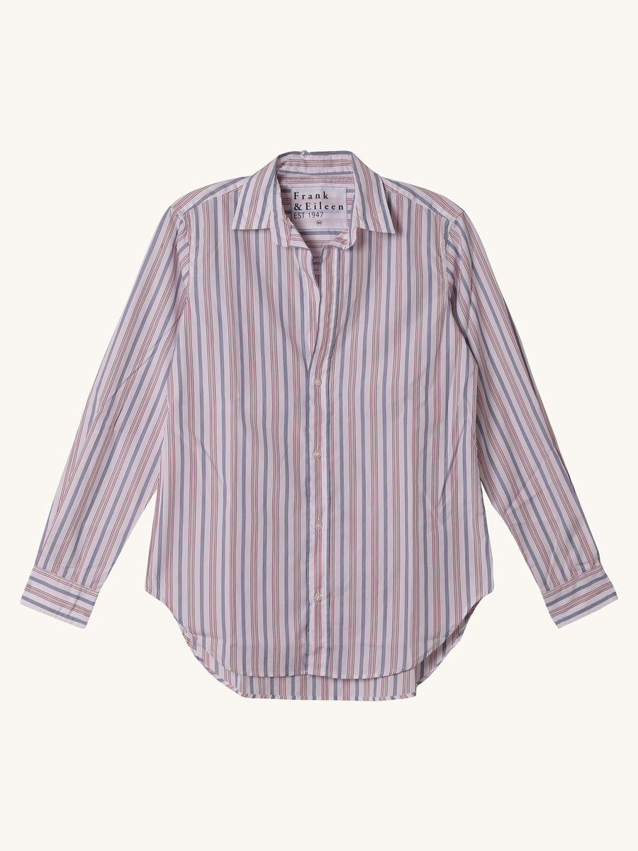 Frank Shirt in Red & Blue Stripe