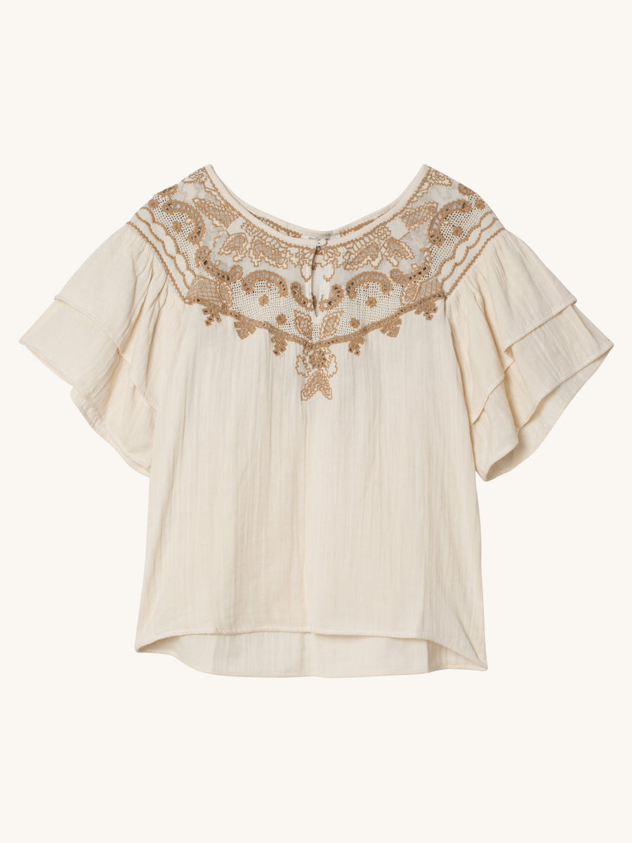 Melodie Blouse in Creme