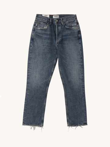 Riley High Rise Straight Leg Crop Jean