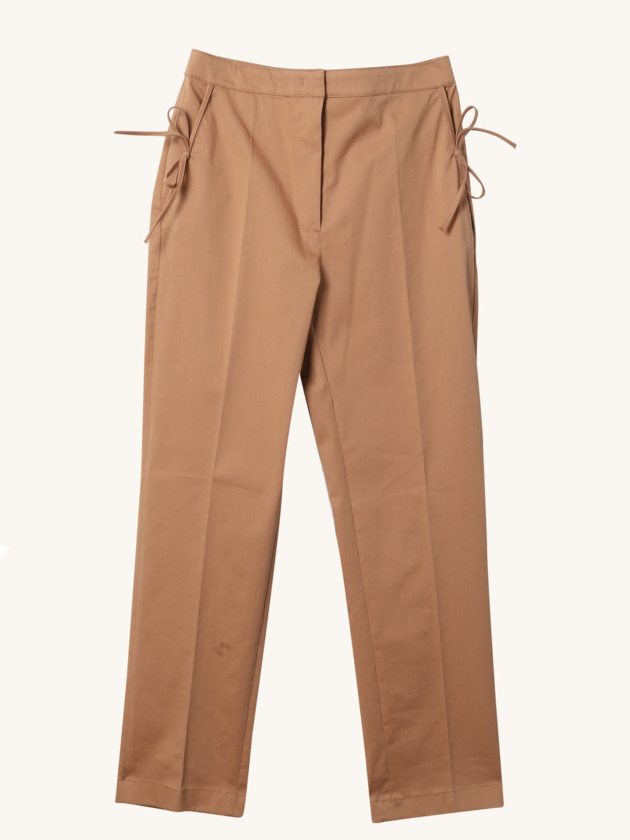 Ankle Cropped Pant in Khaki