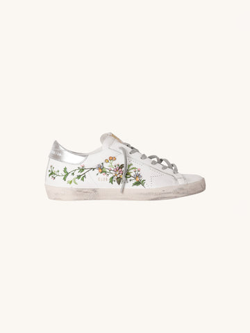 Superstar Sneaker in White Floral