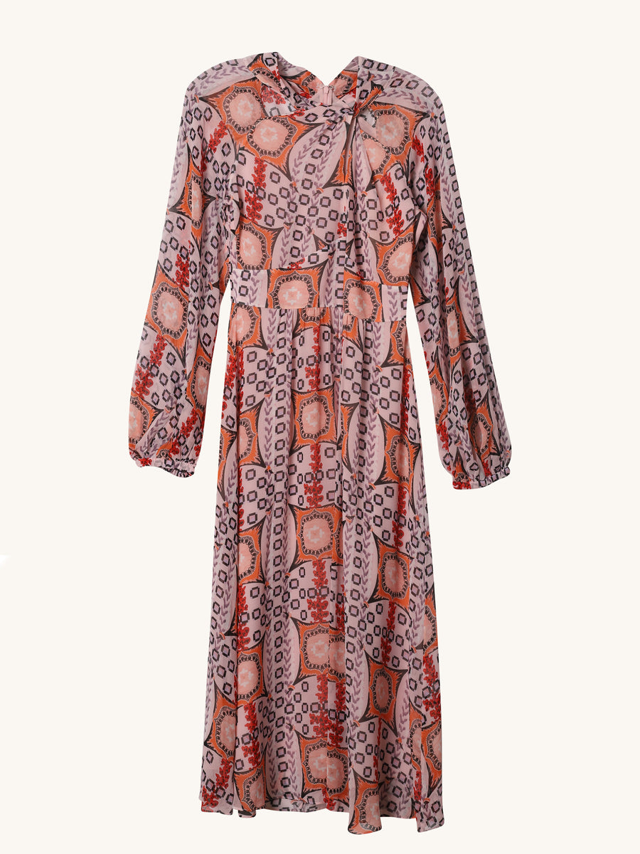 Etoile Printed Dress in Mauve