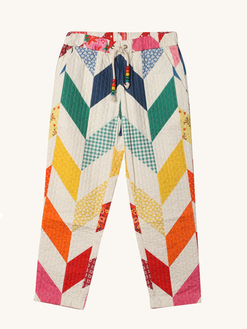 Rainbow Quilted Trouser