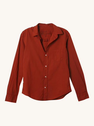 Rust Light Poplin Barry Shirt