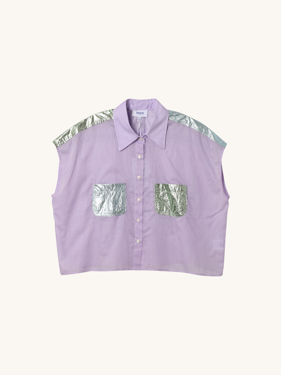 Linen Spencer Top in Lavender