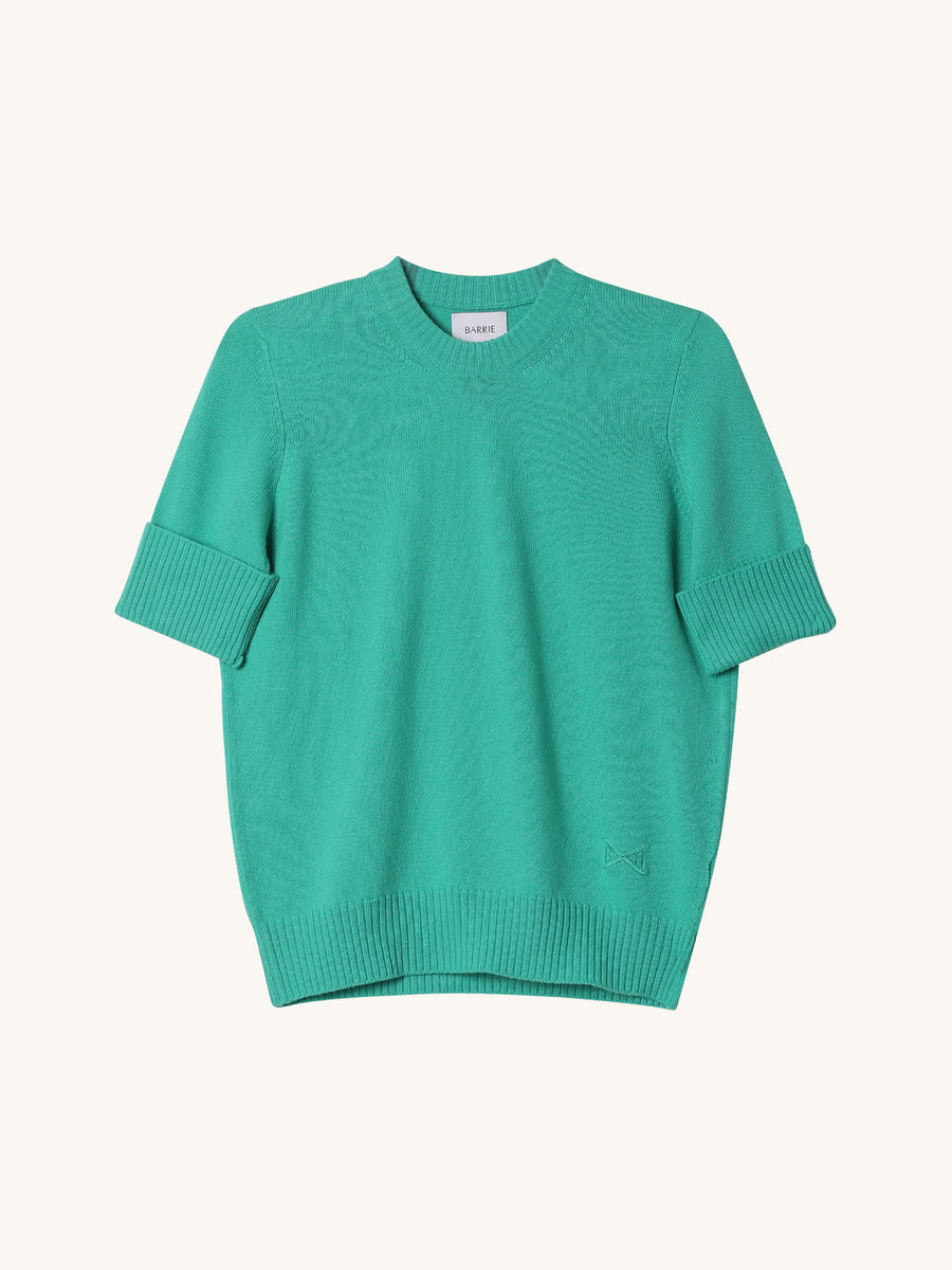 Short Sleeve Sweater in Macaw