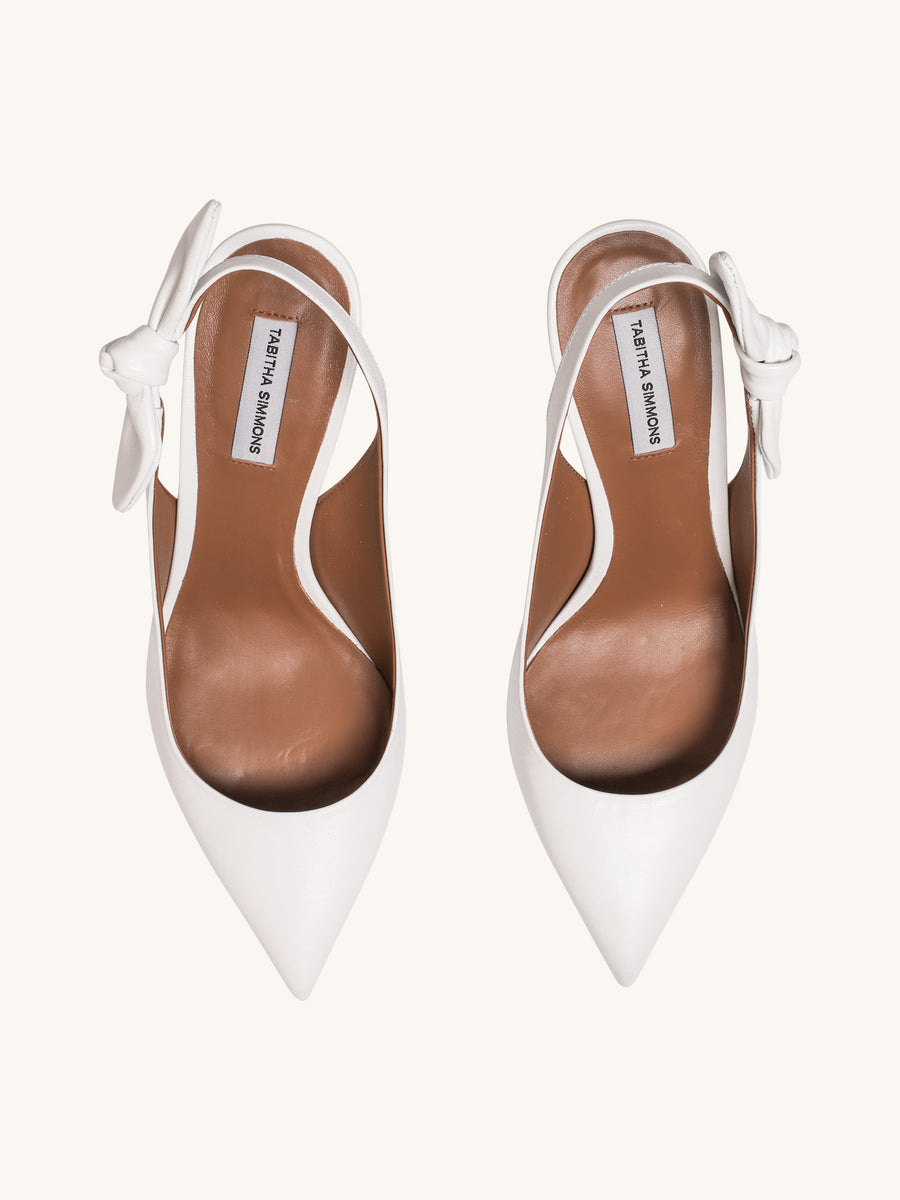 Millie Slingback Heel in White
