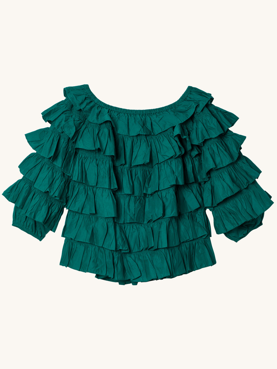 Galapagos Blouse in Green