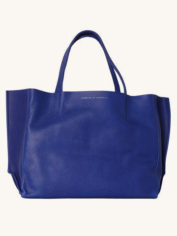 Sideways Tote in Deep Blue