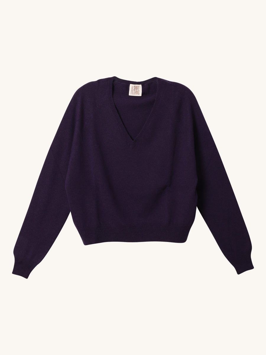 The Girlfriend Sweater in Purple