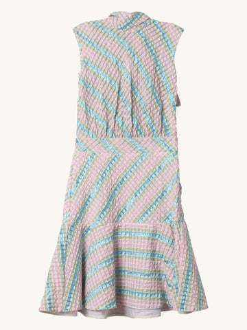 Sleeveless Pastel Pucker Pilar Dress