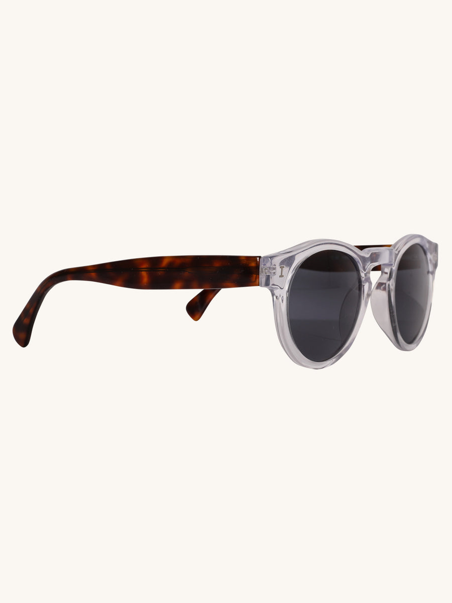 Leonard Sunglasses in Clear and Tortoise