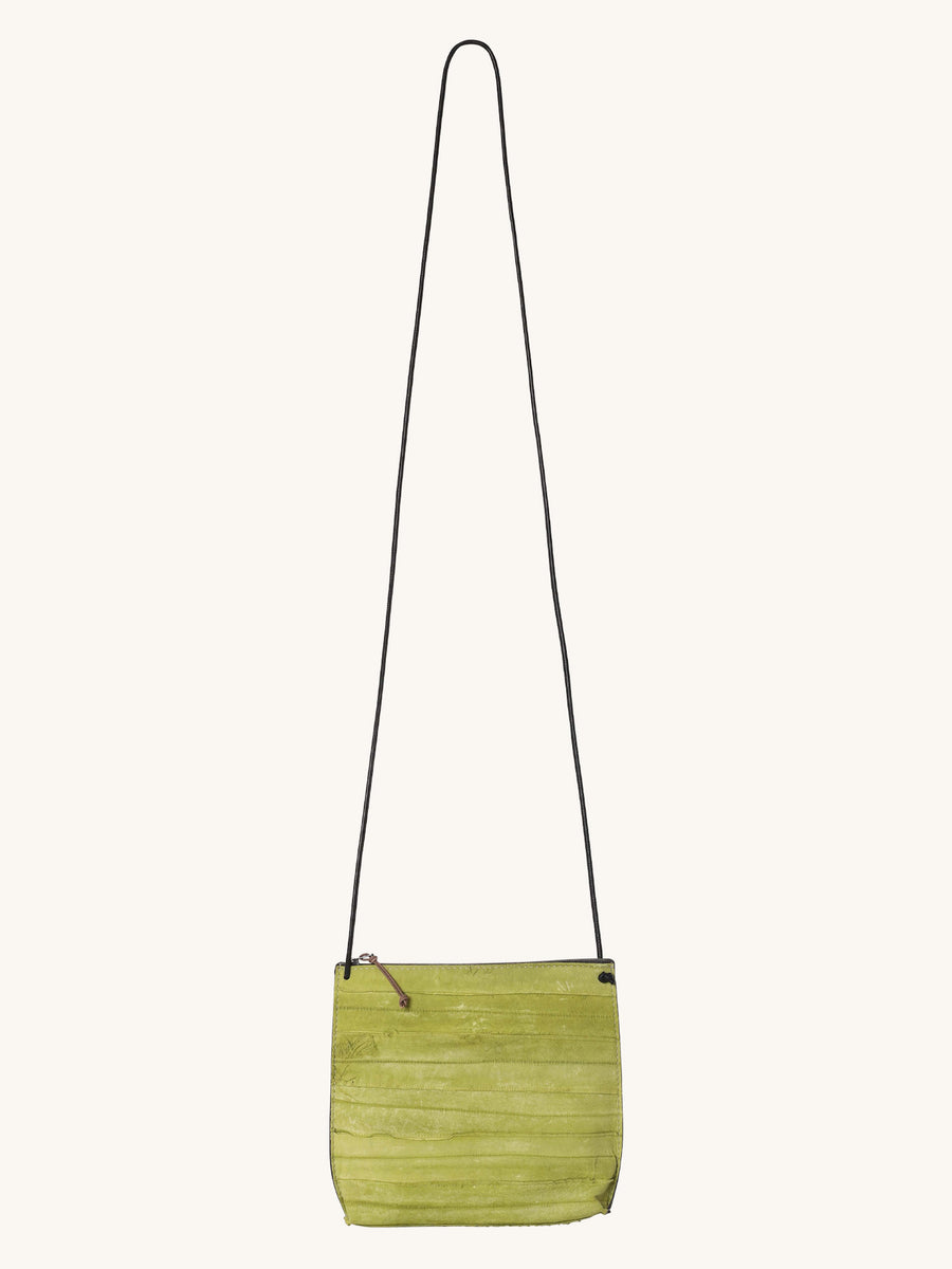 Strappy Reverse Pouch in Lime