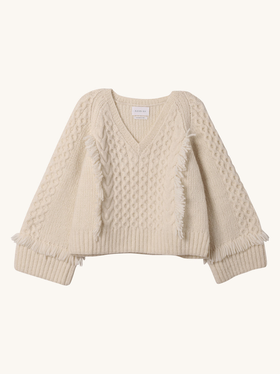 Bella Sweater in Ivory