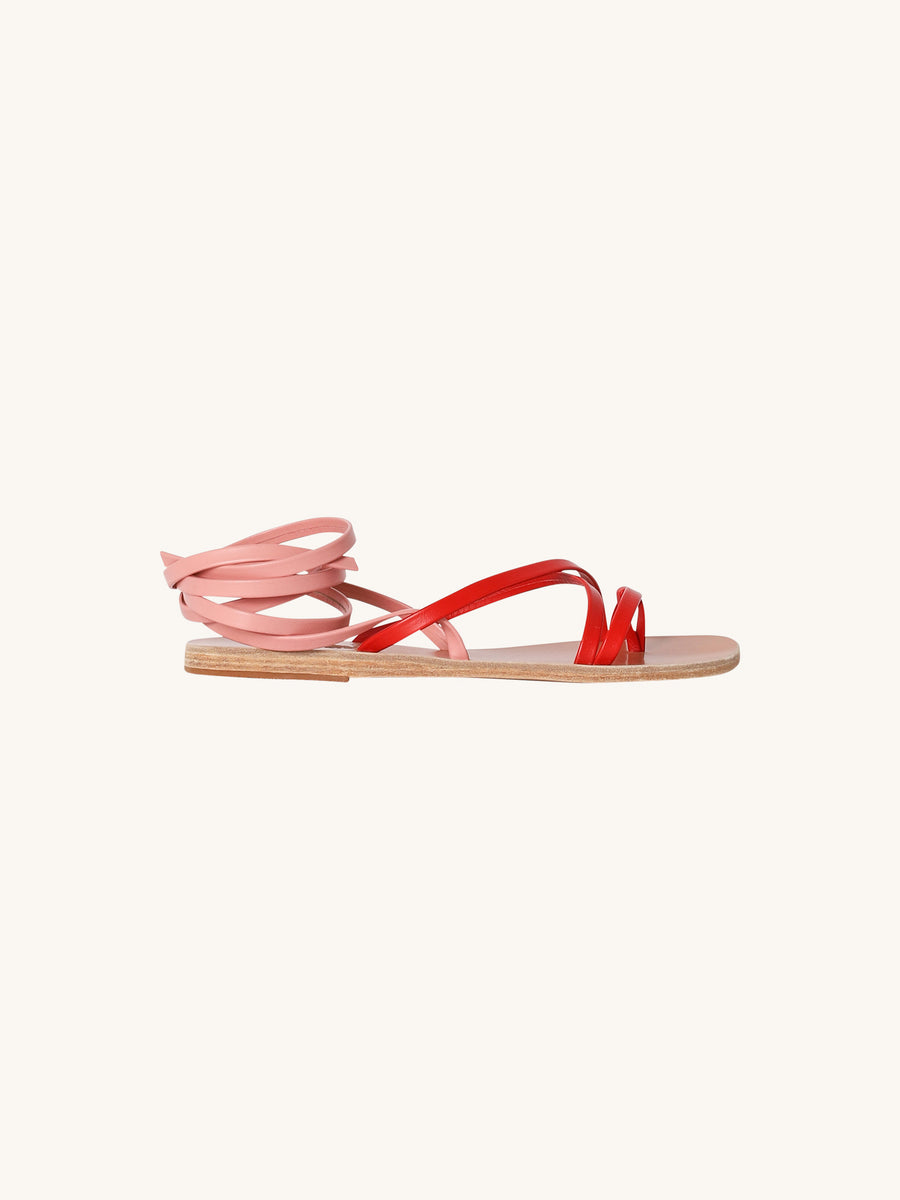 Morfi Sandals in Red & Pink