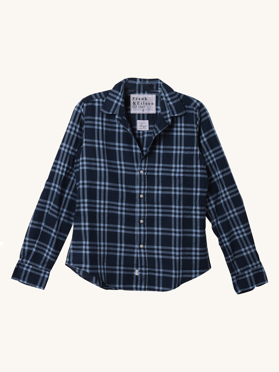 Barry Shirt in Navy Grid