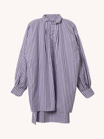 Purple & Navy Stripe Cross Tunic