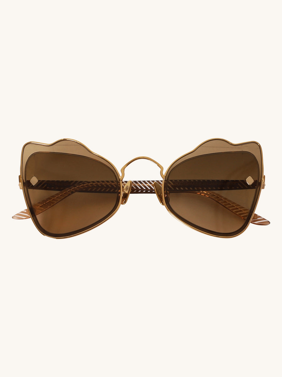 Odyssey Sunglasses in Brown Gradient