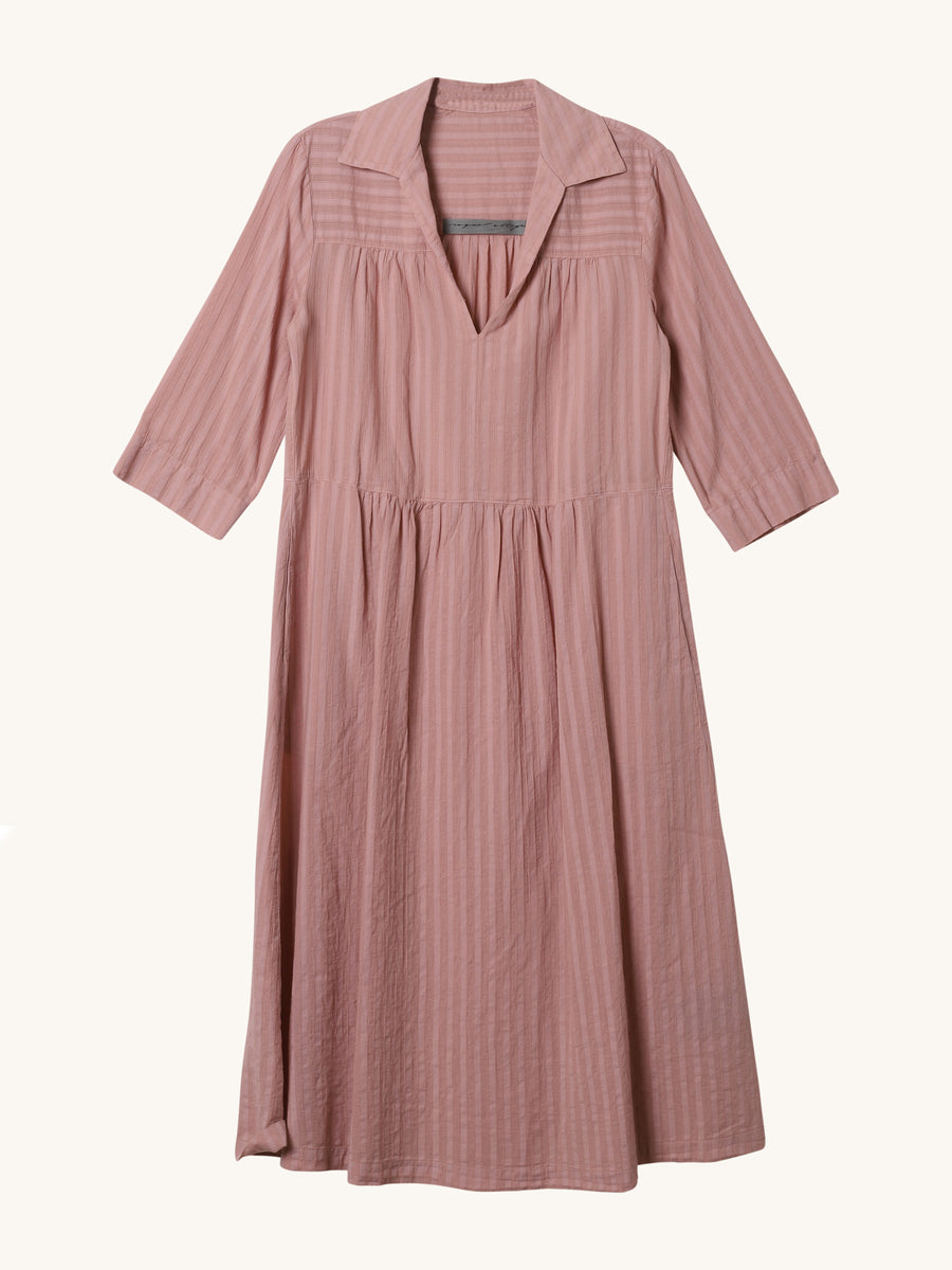 Peasant Dress in Nude