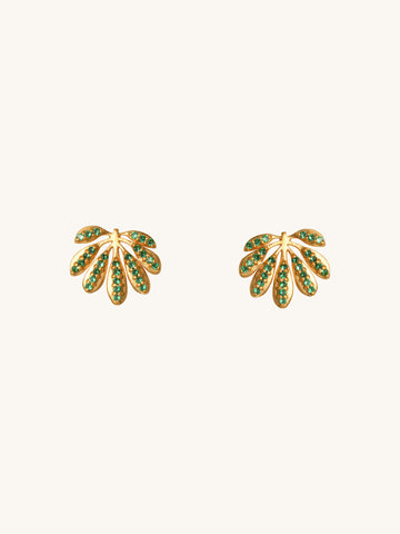 Tropical Leaf Stud Earrings