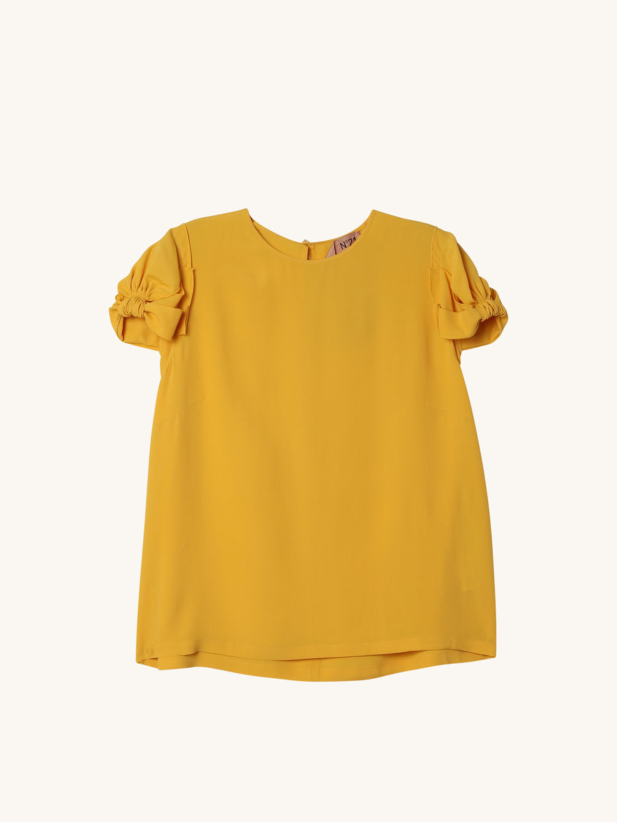 Short Sleeve Top in Yellow