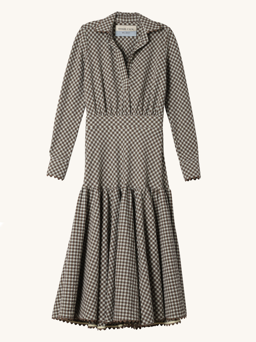 Gingham Popover Pilar Dress